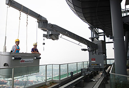 Roof Powered Building Maintenance Units (Gondolas)