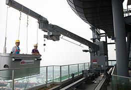 Roof Powered Building Maintenance Units (Gondolas)